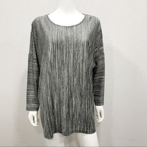 COS long sleeve blouse striped crewneck viscose